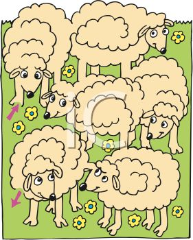 0511-0905-3002-4907_Herd_of_Cartoon_Sheep_clipart_image